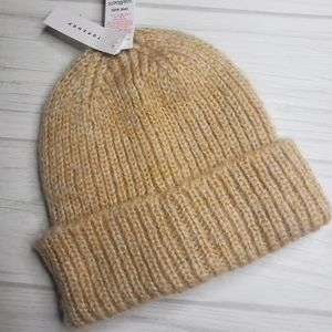 Topshop Knit Beanie Camel Color Unisex Cozy and Warm One Size